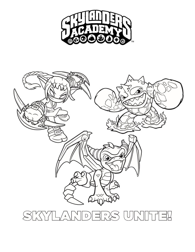 Top 20 Printable Skylanders Coloring Pages