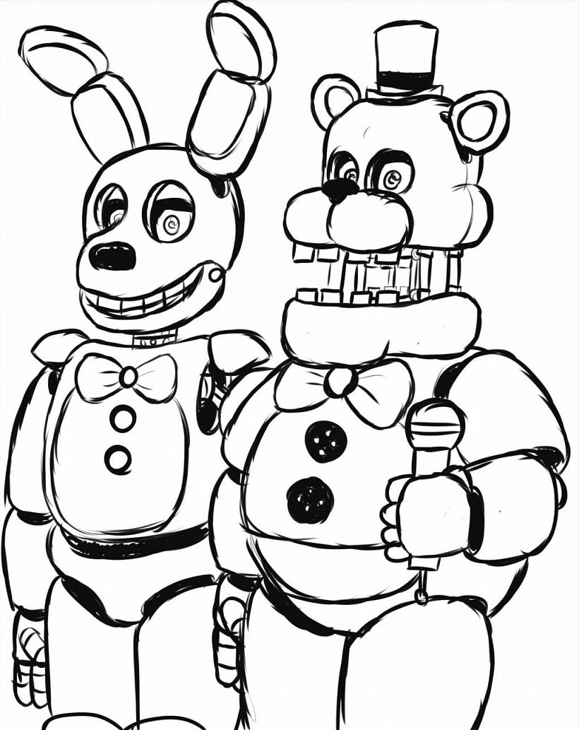 Top 20 Printable Five Nights at Freddy's Coloring Pages ...