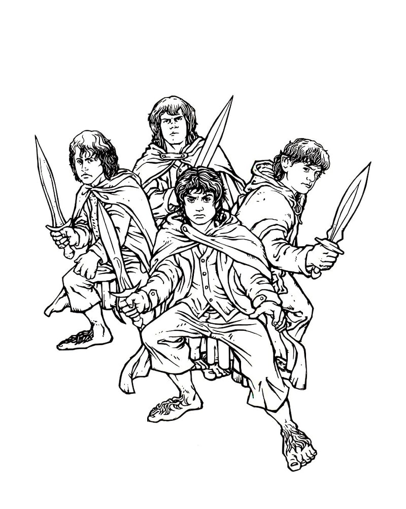 Top 20 Printable The Lord of the Rings Coloring Pages