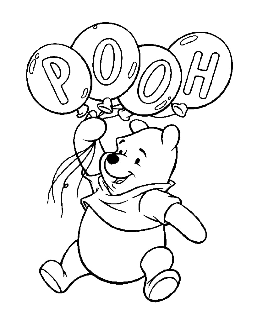 Top 20 Printable Winnie the Pooh Coloring Pages