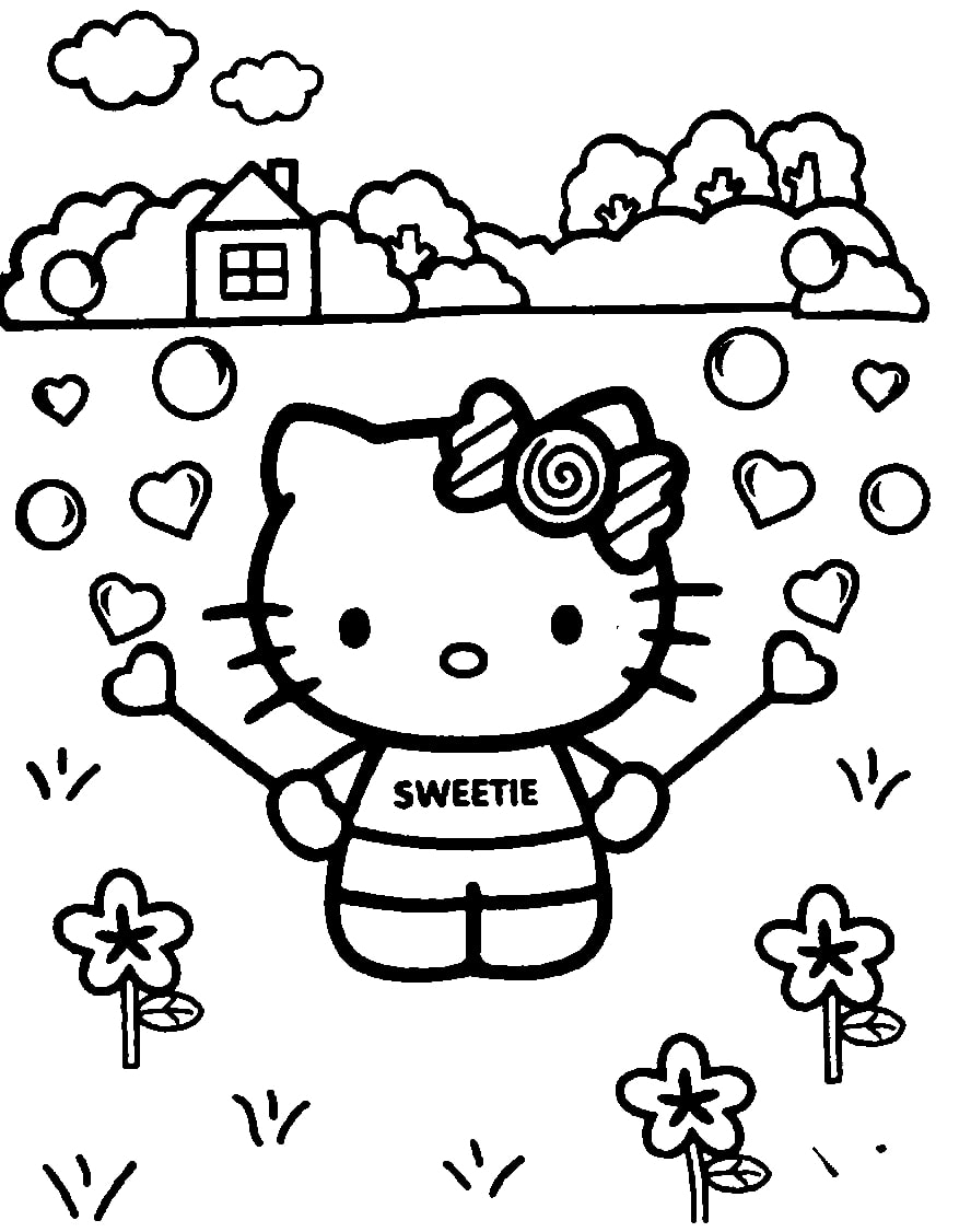 Top 20 Printable Hello Kitty Coloring Page