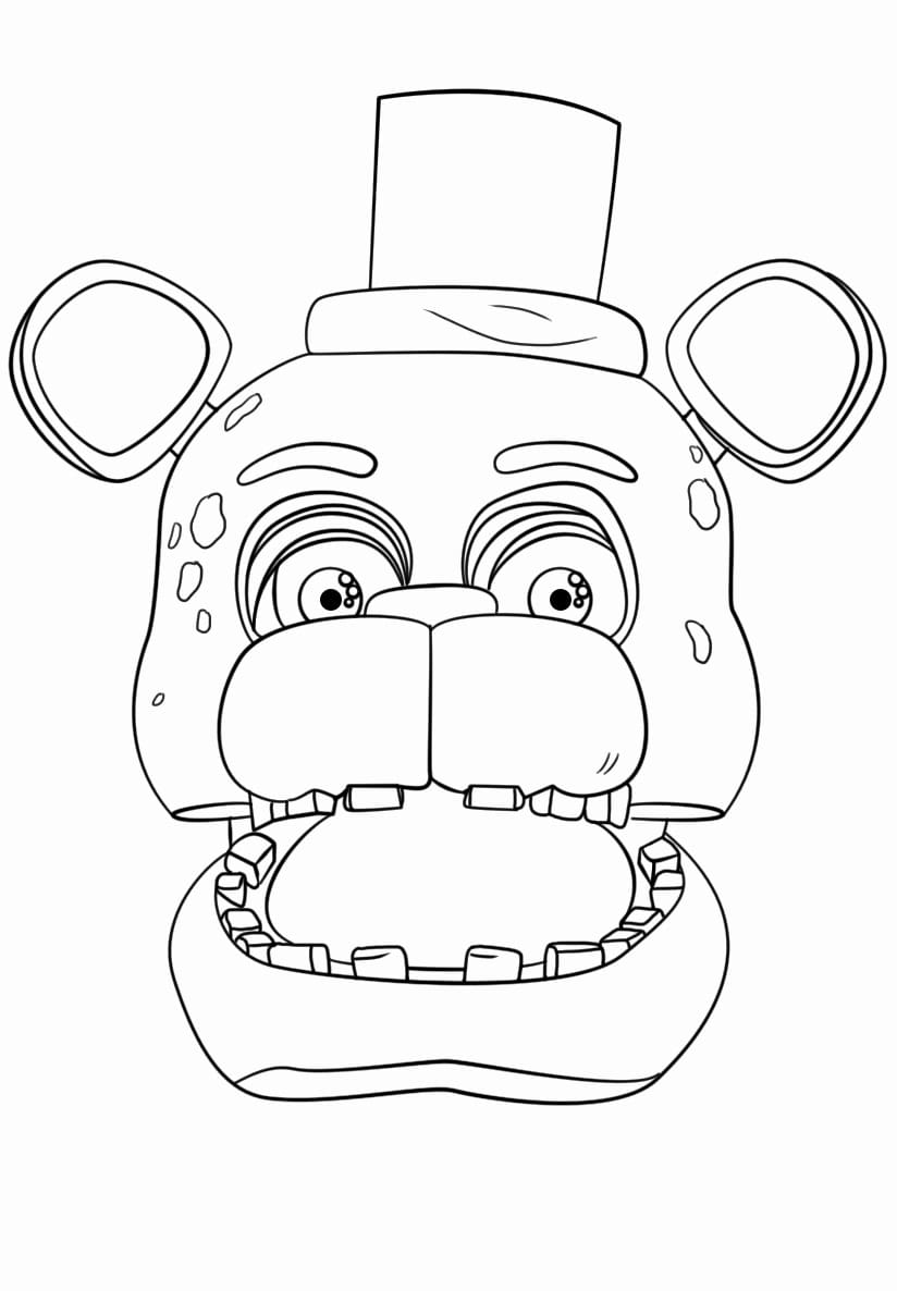 It is a graphic of Free Printable Five Nights at Freddy's Coloring Pages inside nightmare