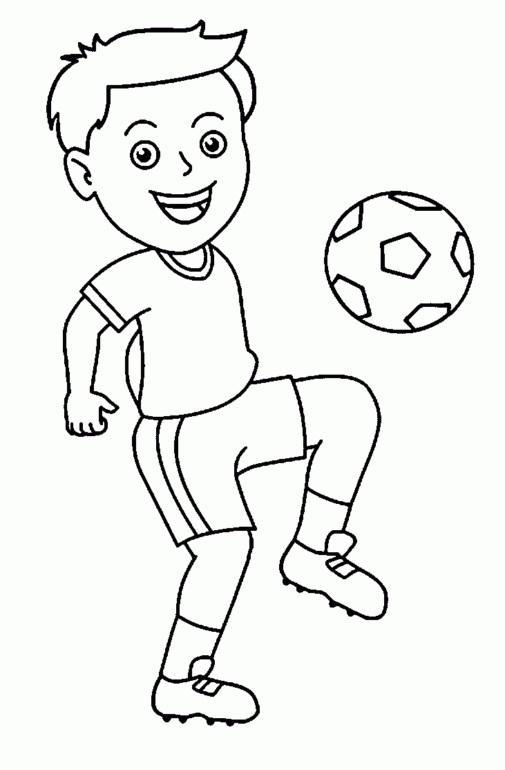 Top 20 Printable Soccer Coloring Pages