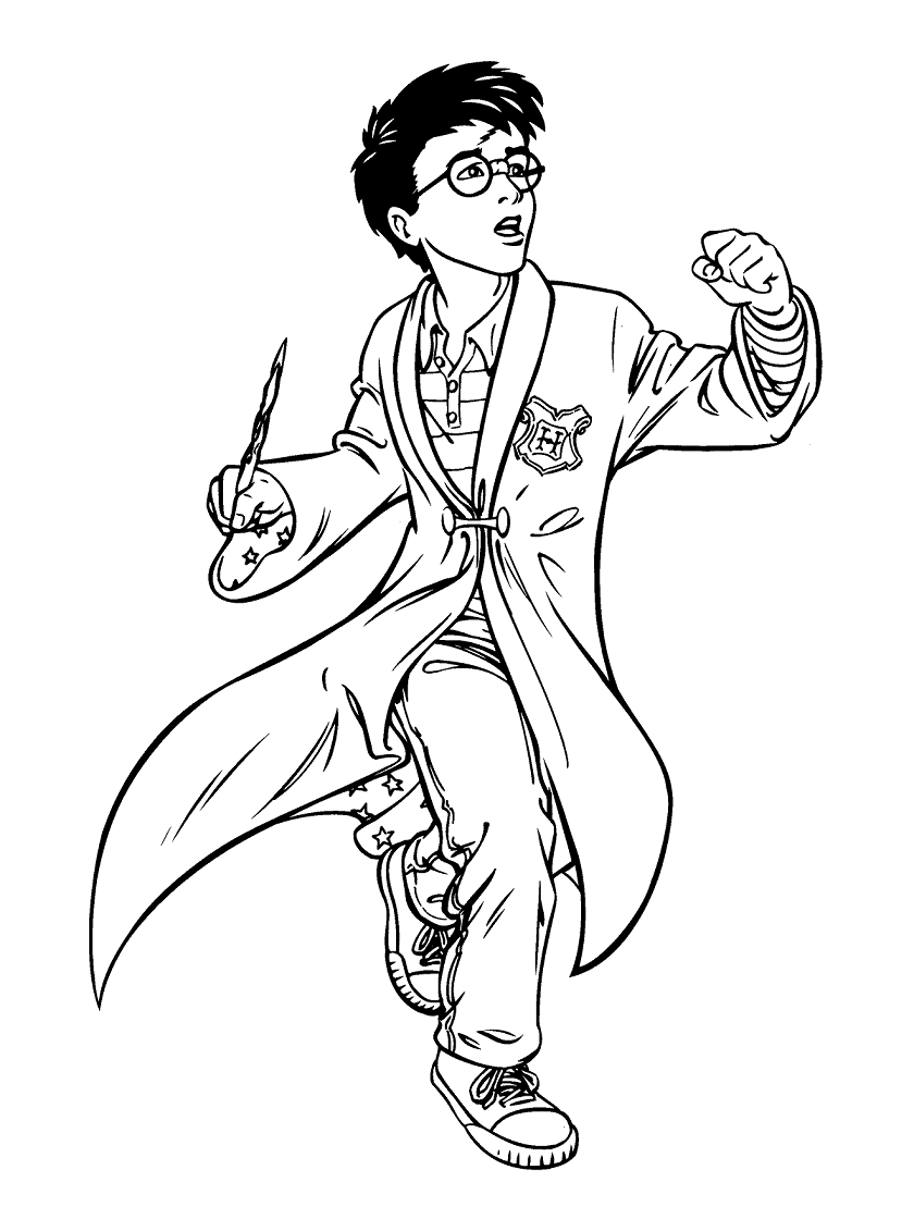 Top 20 Printable Harry Potter Coloring Pages