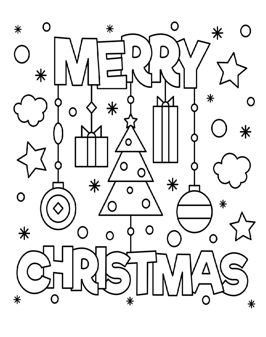 Top 20 Printable Christmas Coloring Pages