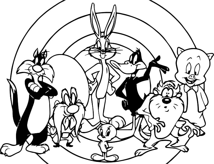 Top 20 Printable Looney Tunes Coloring Pages