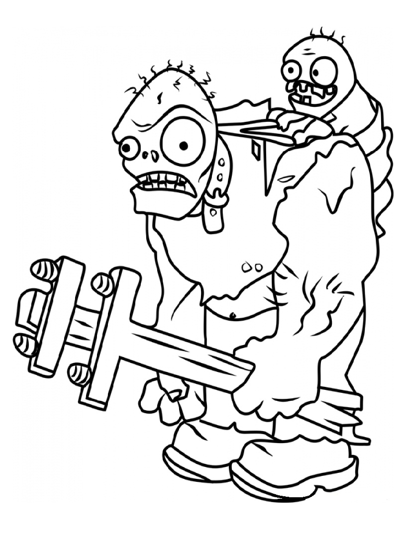 Top 20 Printable Plants Vs Zombies Coloring Pages Online