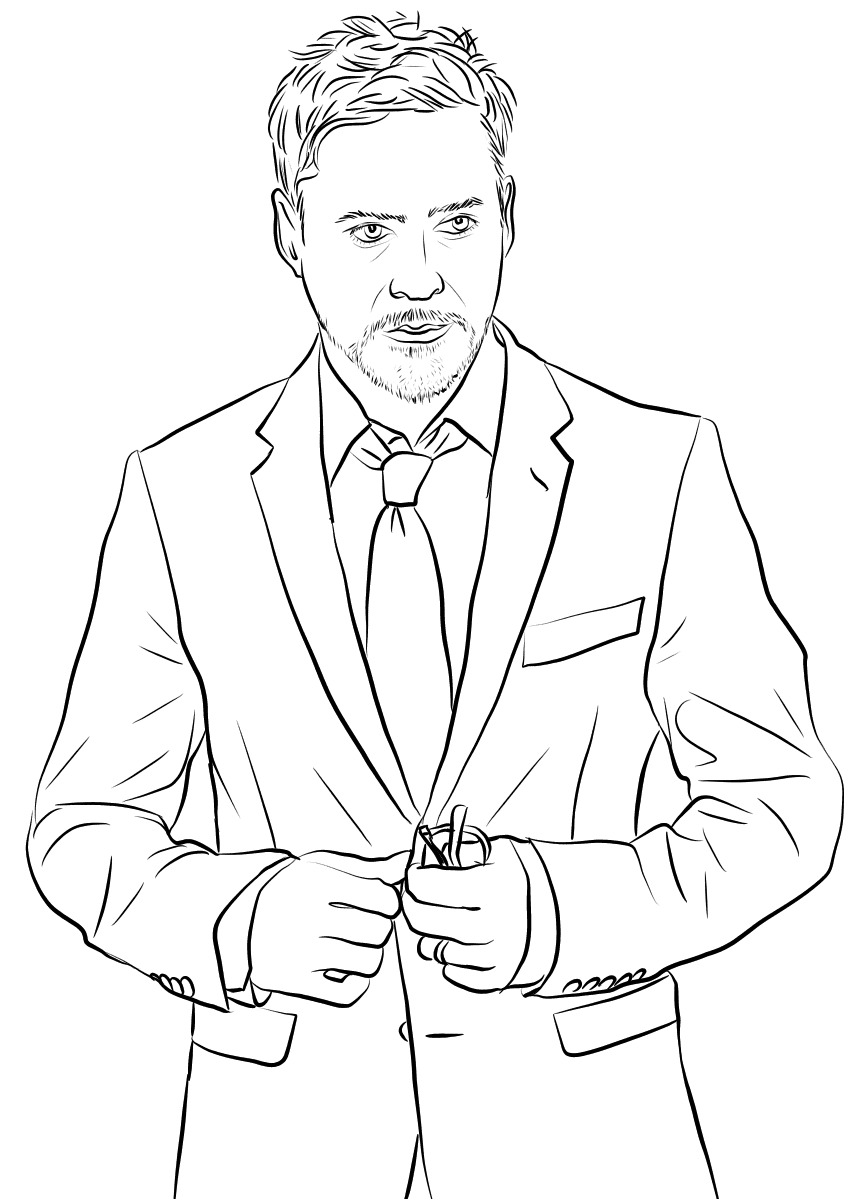 Top 20 Printable Famous Actors Coloring Pages