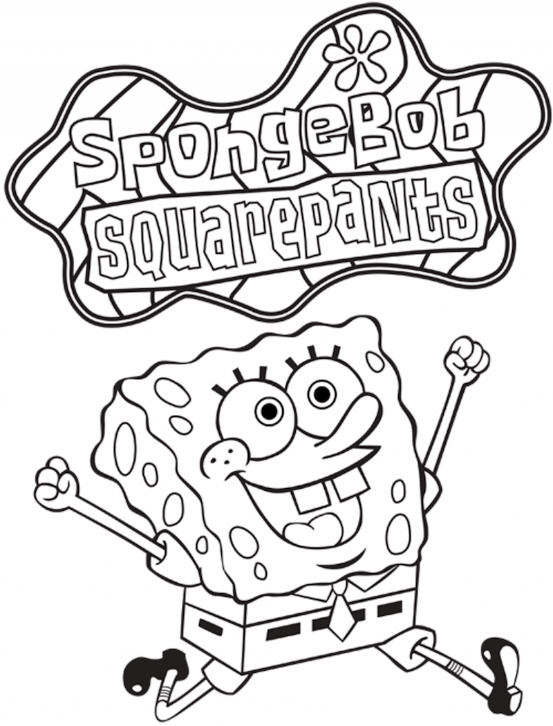 Top 20 Printable SpongeBob Coloring Pages