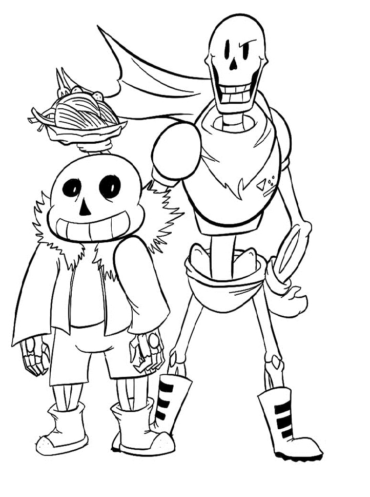 A Lot Of Undertale Coloring Pages Printable