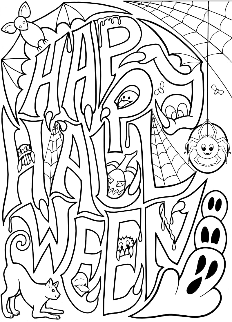 Top 20 Printable Halloween Coloring Pages