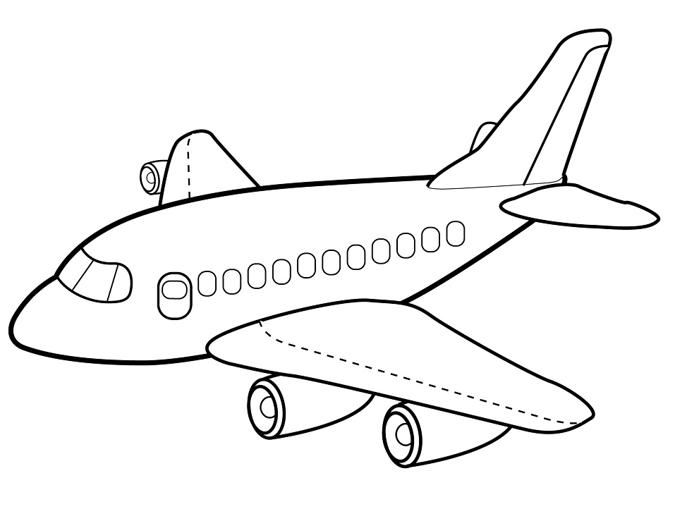 Top 20 Printable Airplane Coloring Pages