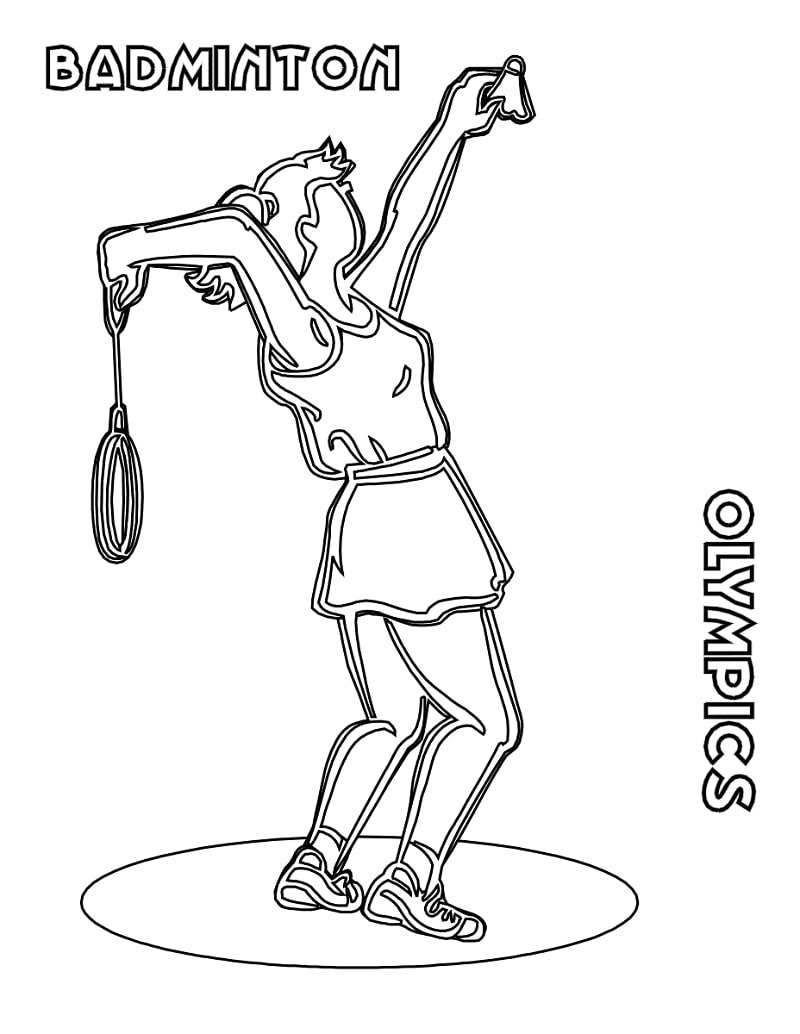Top 20 Printable Badminton Coloring Pages
