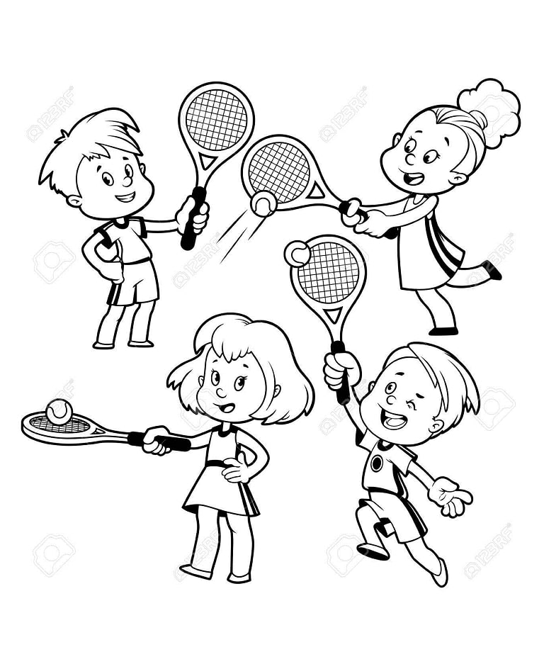 Top 20 Printable Tennis Coloring Pages