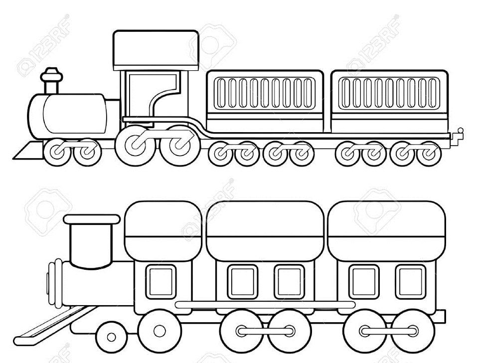 Top 20 Printable Train Coloring Pages