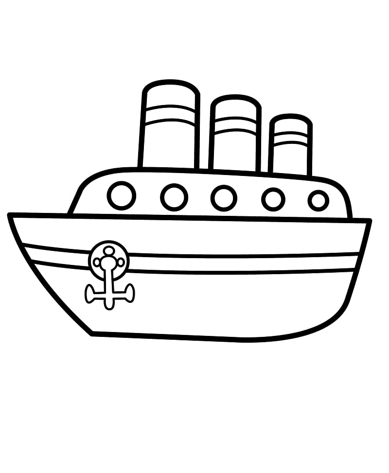 Top 20 Printable Ship and Boat Coloring Pages