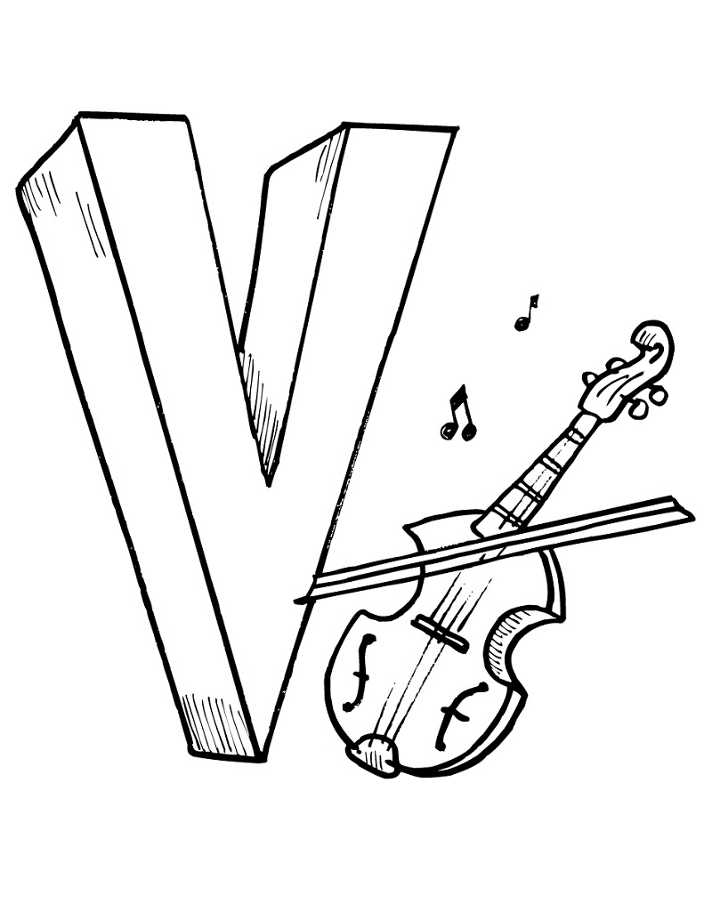 Top 20 Printable Violin Coloring Pages