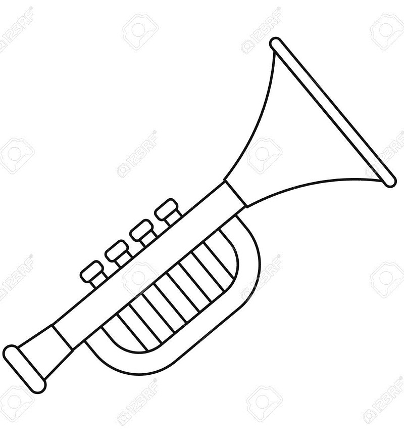 Top 20 Printable Trumpet  Coloring Pages