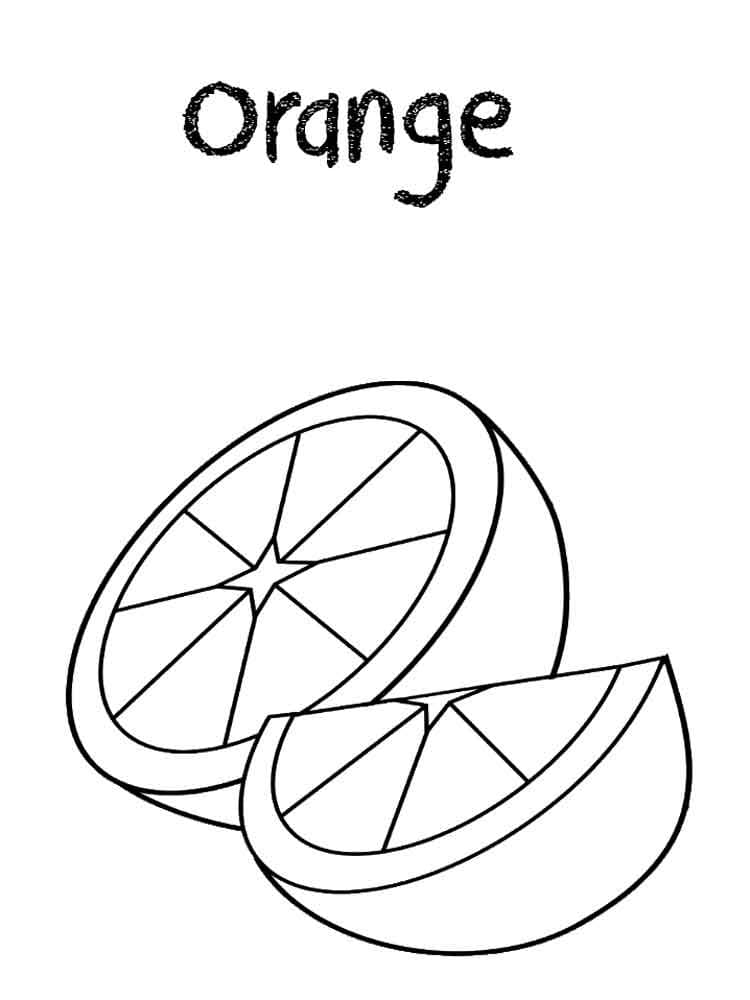Top 20 Printable Oranges Coloring Pages
