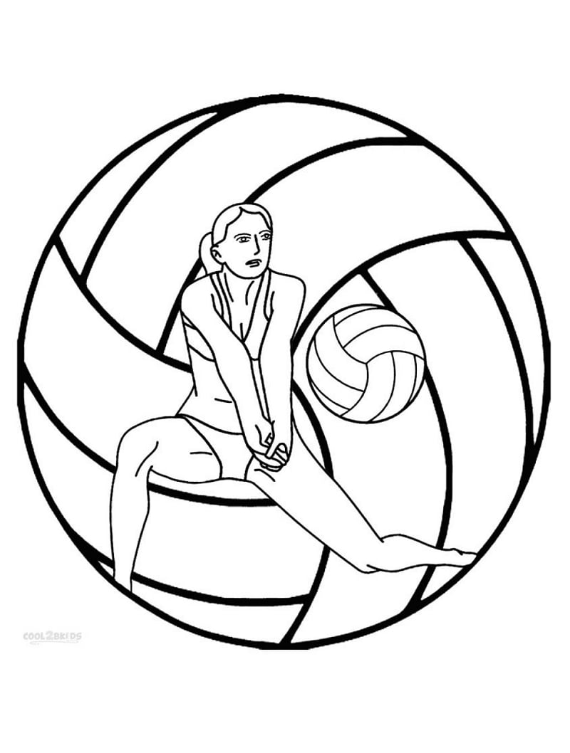 Top 20 Printable Volleyball Coloring Pages