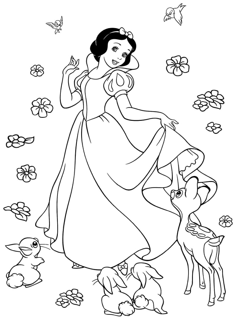 Top 20 Printable Snow White Coloring Pages