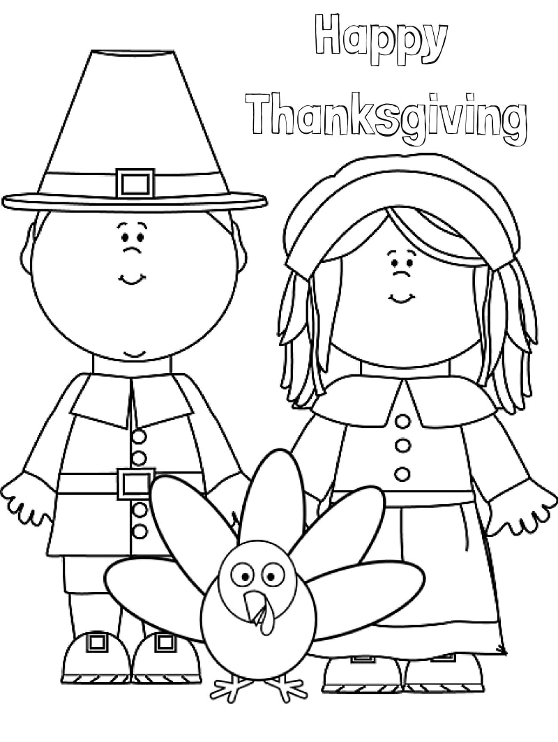 Top 20 Printable Thanksgiving Coloring Pages