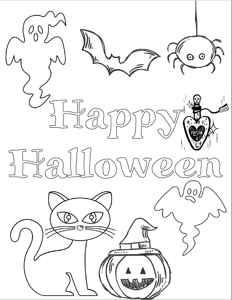 halloween coloring pages for preschoolers - Free Large Images   1036x800