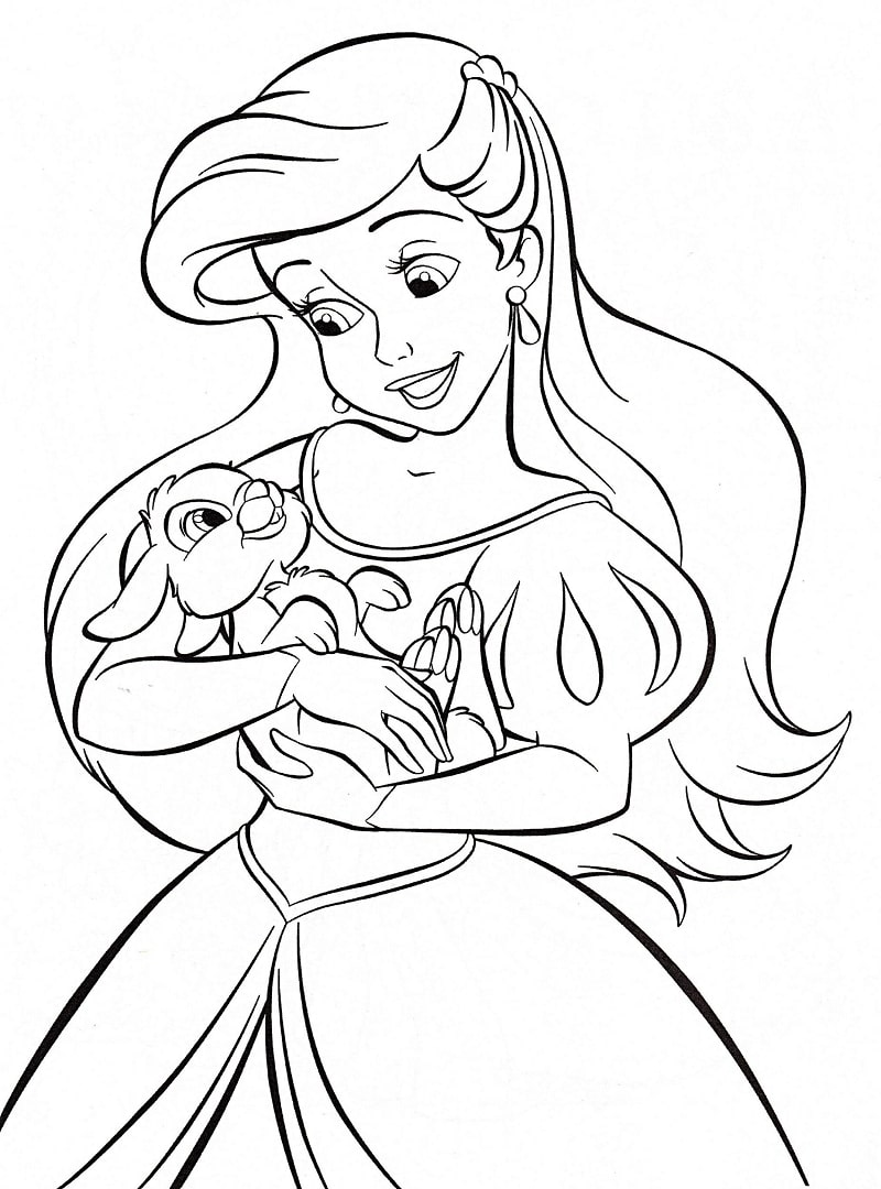 Top 20 Printable Ariel Coloring Pages