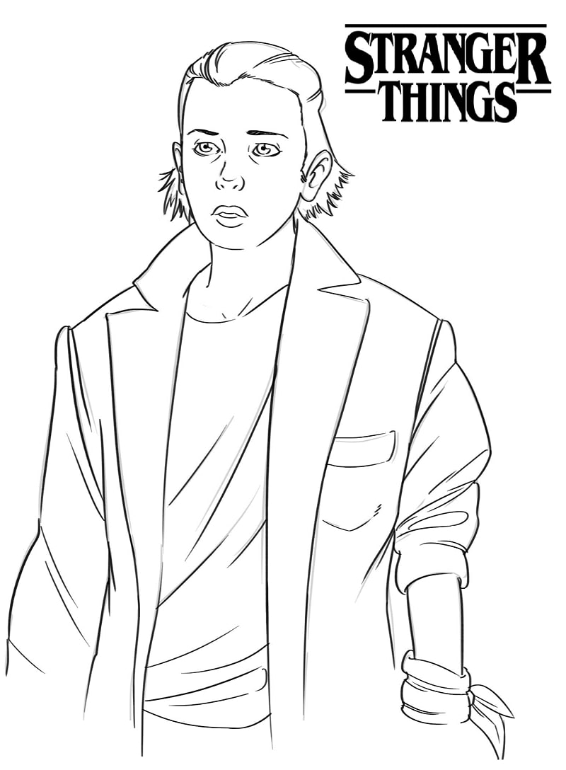 Top 15 Printable Stranger Things Coloring Pages Online