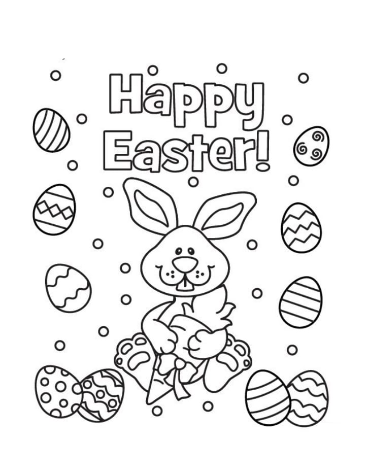Top 20 Printable Easter Coloring Pages
