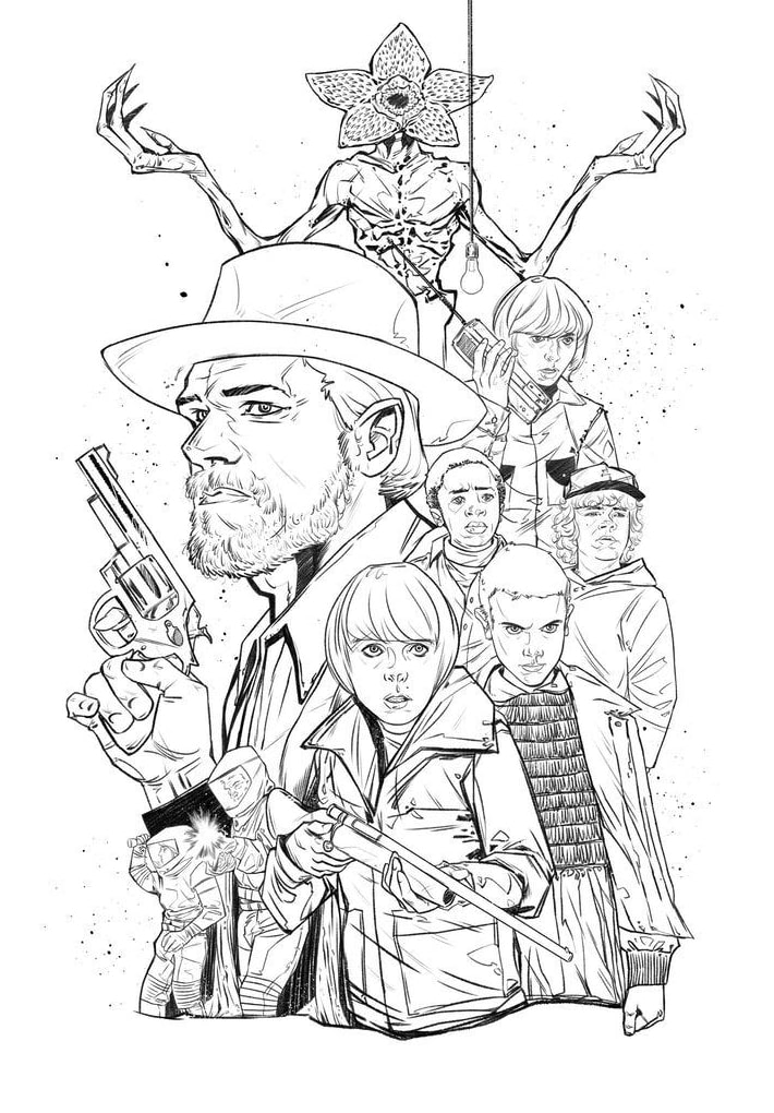Top 15 Printable Stranger Things Coloring Pages