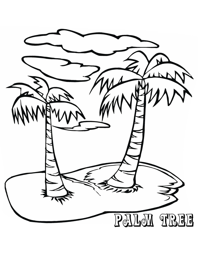 Top 20 Printable Palm Tree Coloring Pages