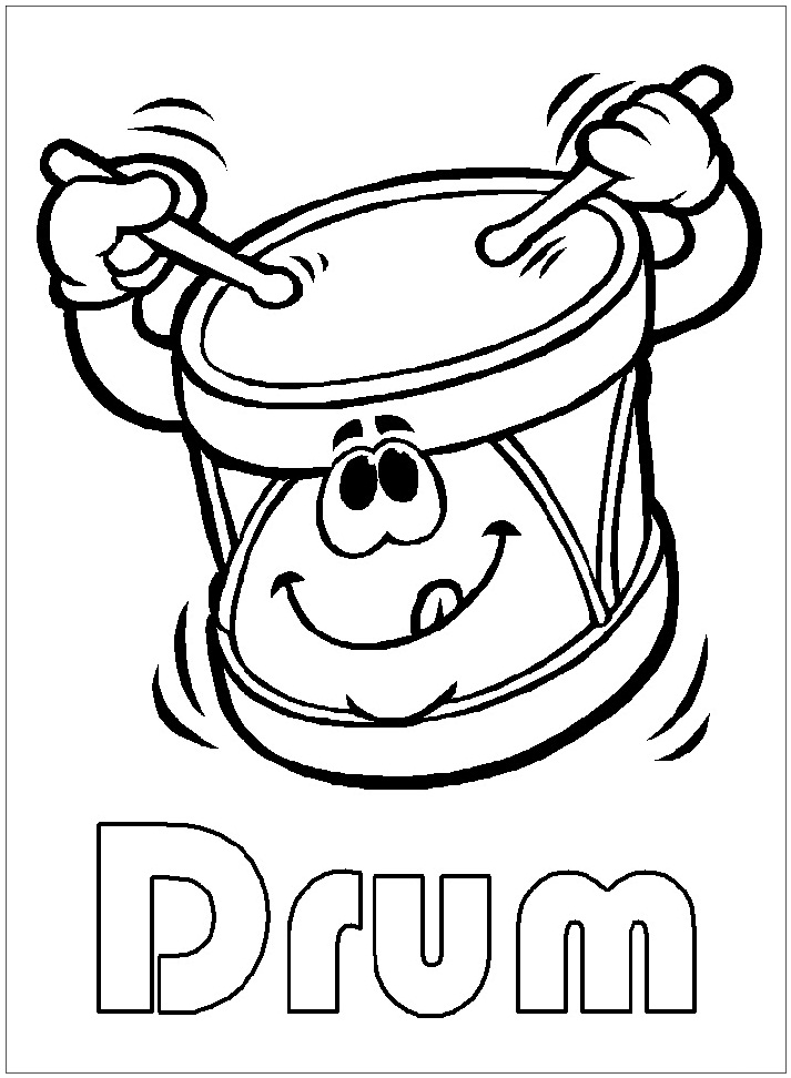 Top 20 Printable Drum Coloring Pages
