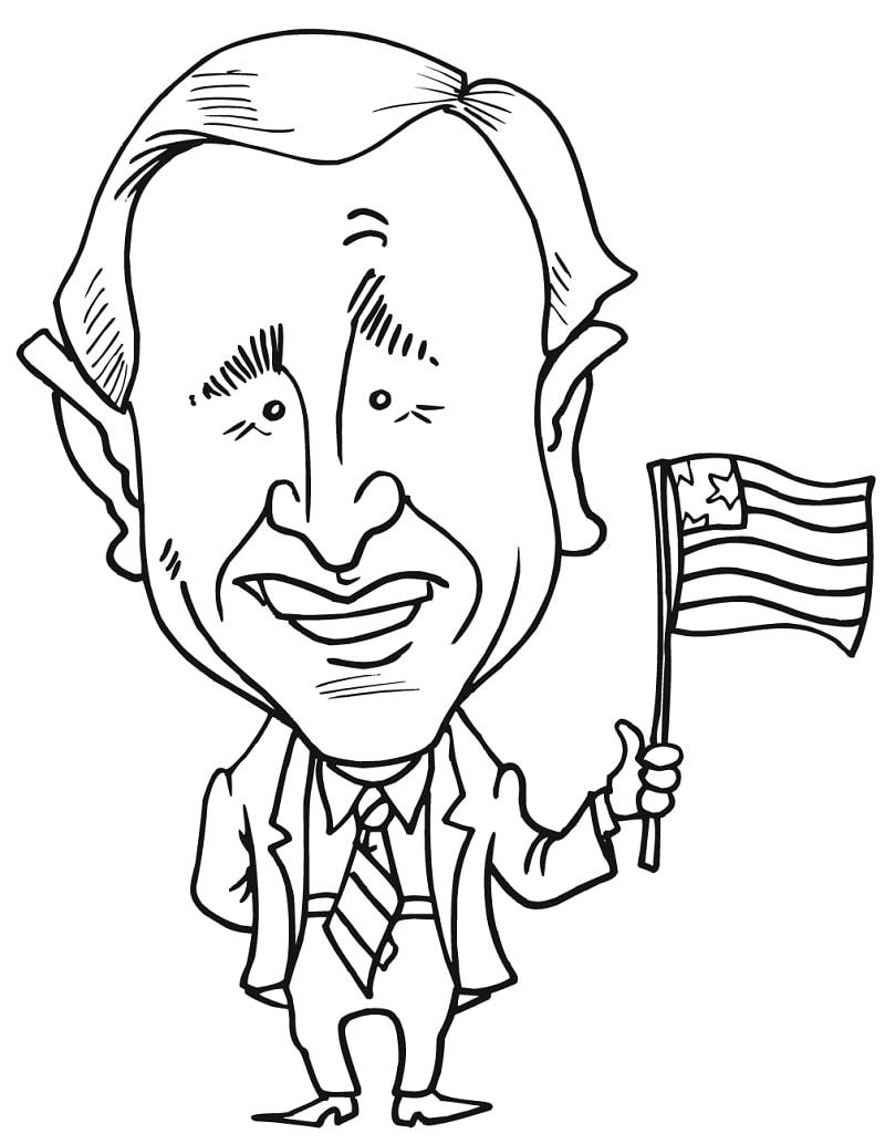 Top 12 Printable Famous Politicians Coloring Pages