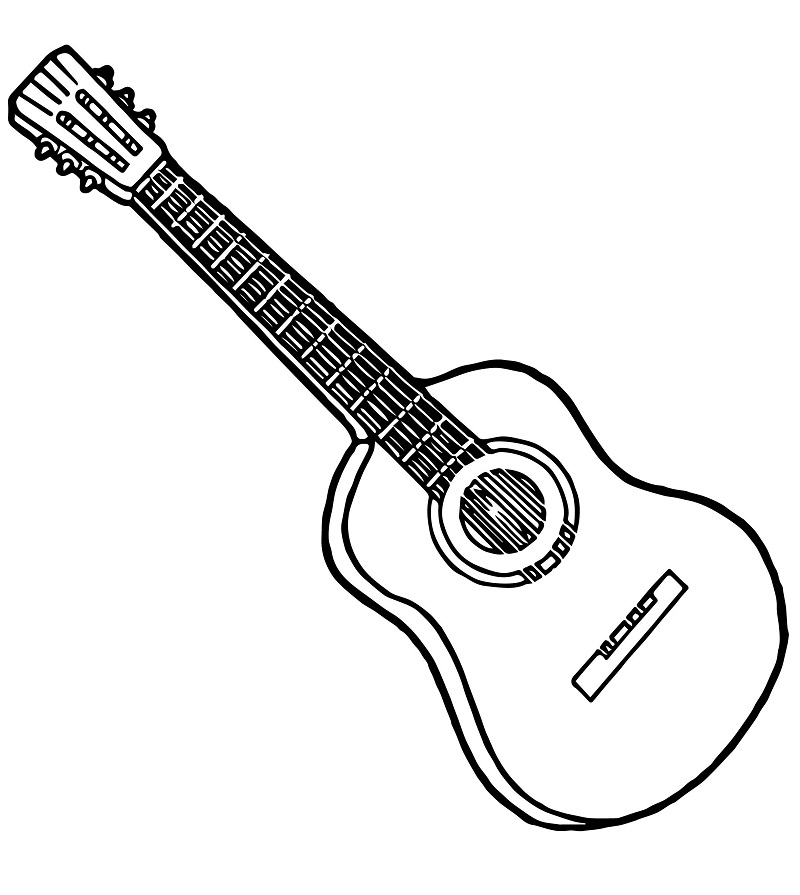 Electric Guitar coloring page | Free Printable Coloring Pages | 895x800