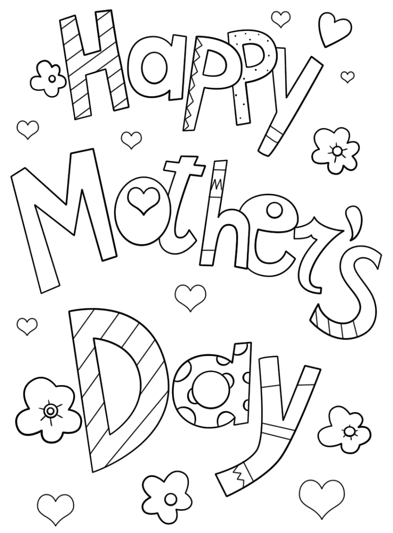 Top 20 Printable Mother's Day Coloring Pages
