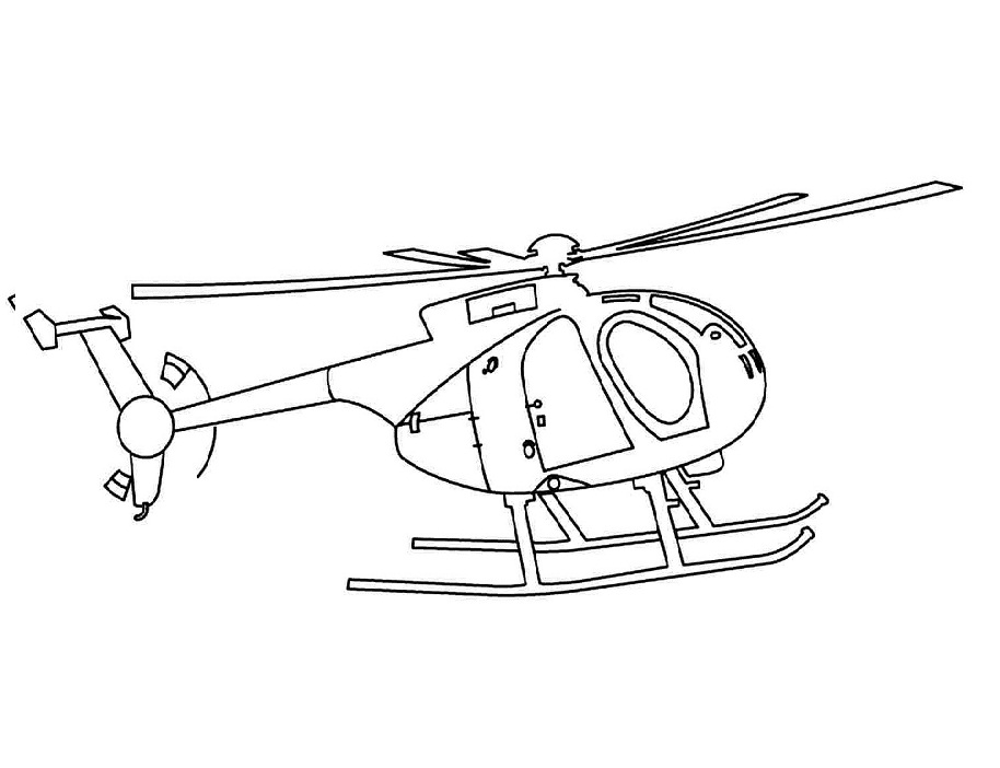 Top 20 Printable Helicopter Coloring Pages