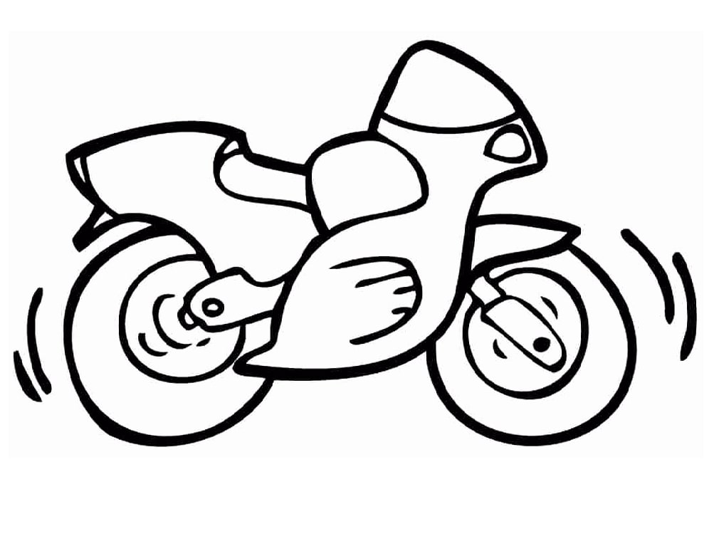 Top 20 Printable Motobike Coloring Pages