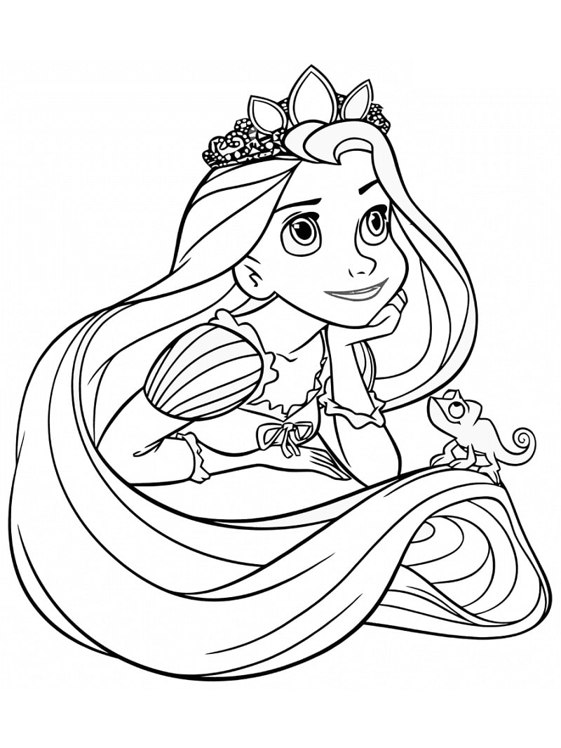Top 20 Printable Rapunzel Coloring Pages Online Coloring Pages