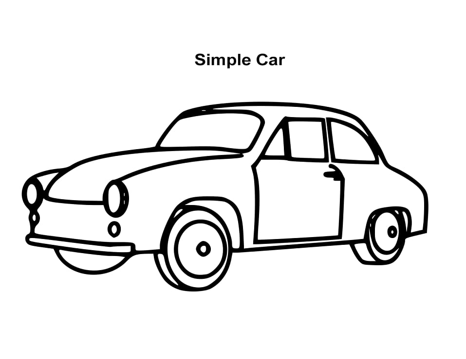 Top 20 Printable Car Coloring Pages