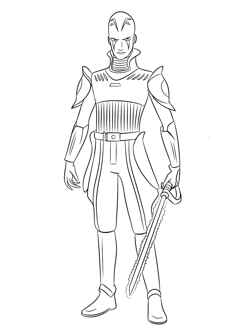Star Wars Rebels Inquisitor Coloring Pages Online Coloring Pages