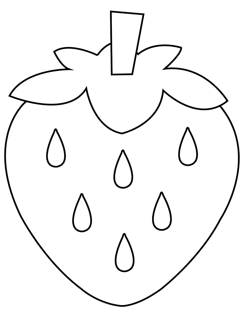 Top 20 Printable Strawberry Coloring Pages