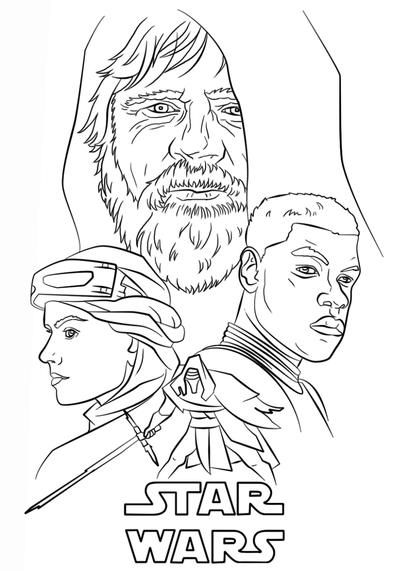 Top 20 Printable Star Wars Coloring Pages