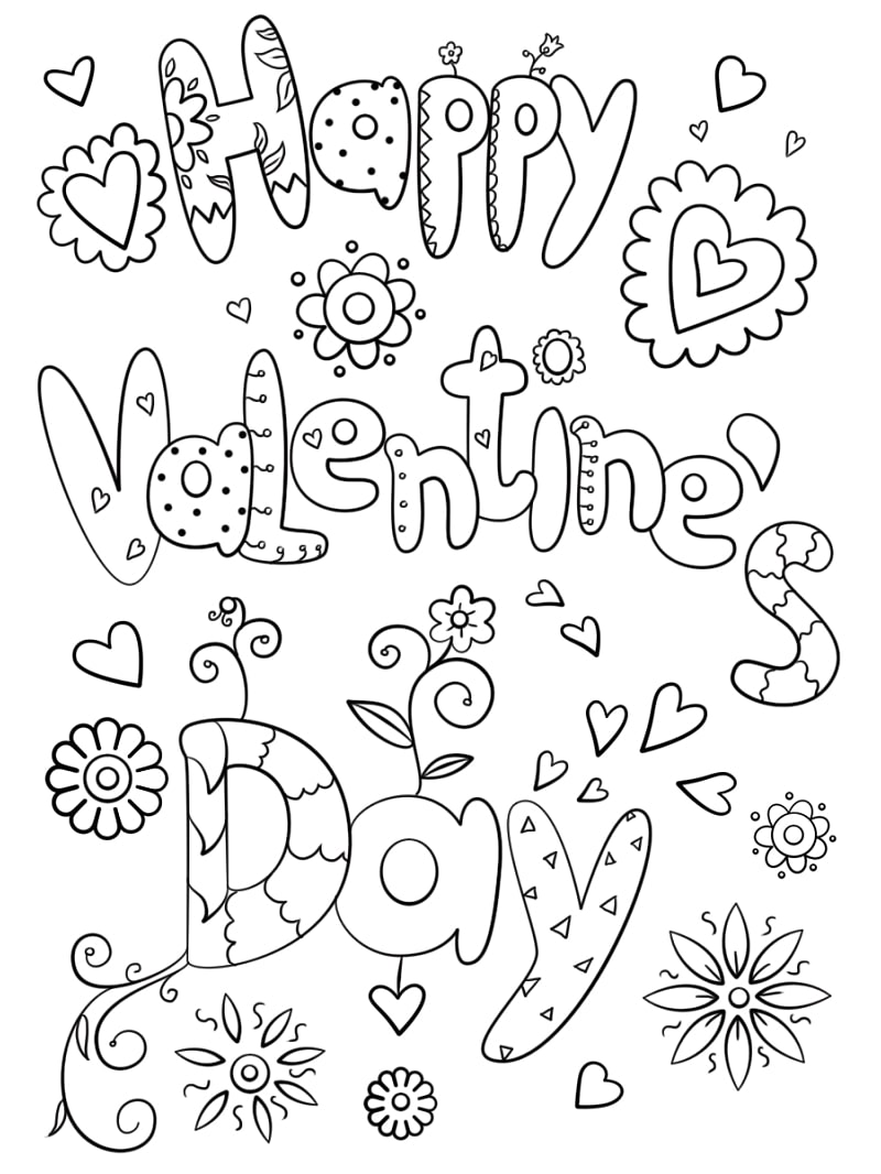 Top 20 Printable Valentine's Day Coloring Pages