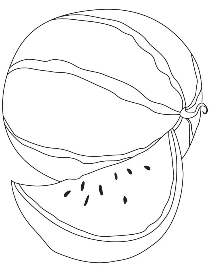 Top 20 Printable Watermelon Coloring Pages Online Coloring Pages