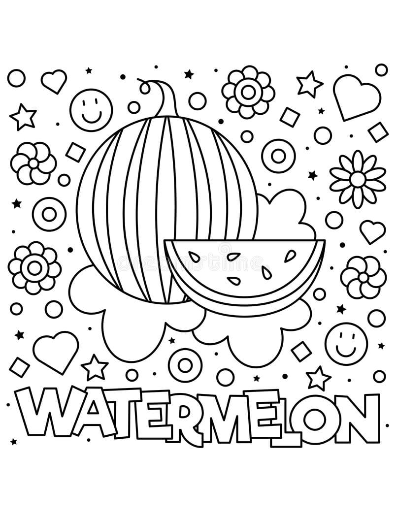 Top 20 Printable Watermelon  Coloring Pages