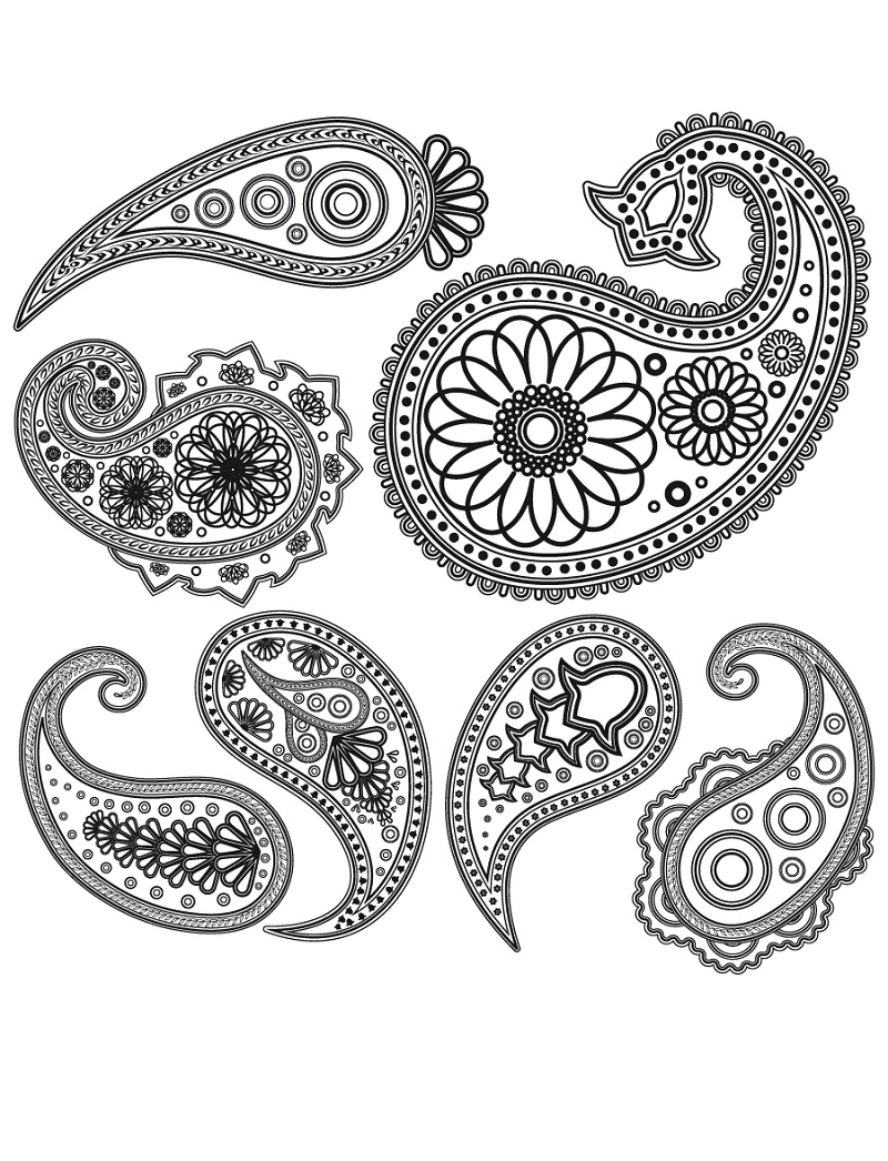 Top 20 Printable Paisley Design Coloring Pages