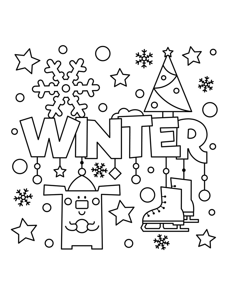 Top 20 Printable Winter Coloring Pages