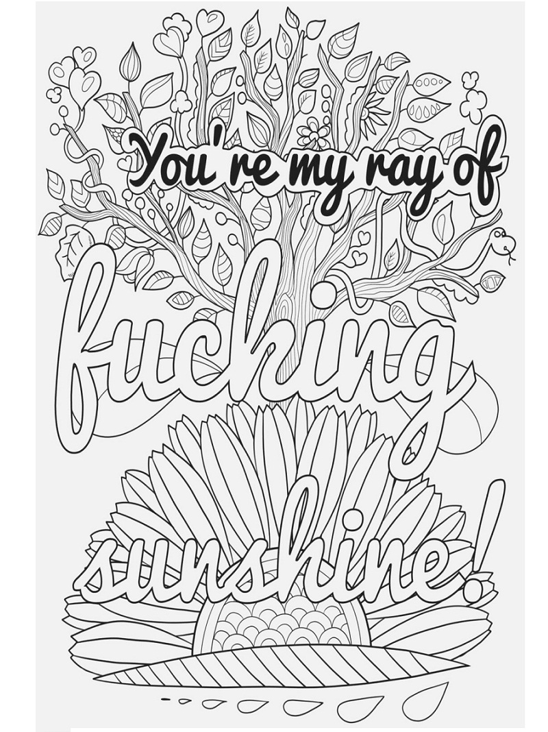 Top 20 Printable Swear Words Coloring Pages Online Coloring Pages