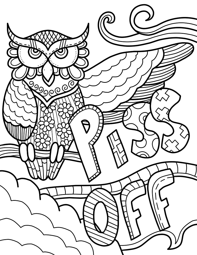 Top 20 Printable Swear Words Coloring Pages